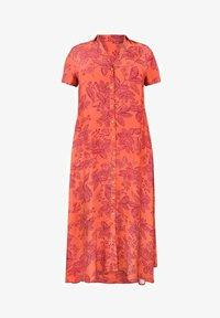 Live Unlimited London - FLORAL  - Shirt dress - orange - 1