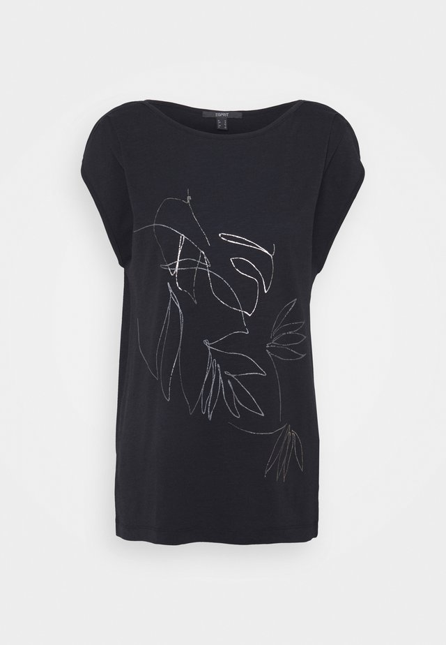 LINE - Print T-shirt - black
