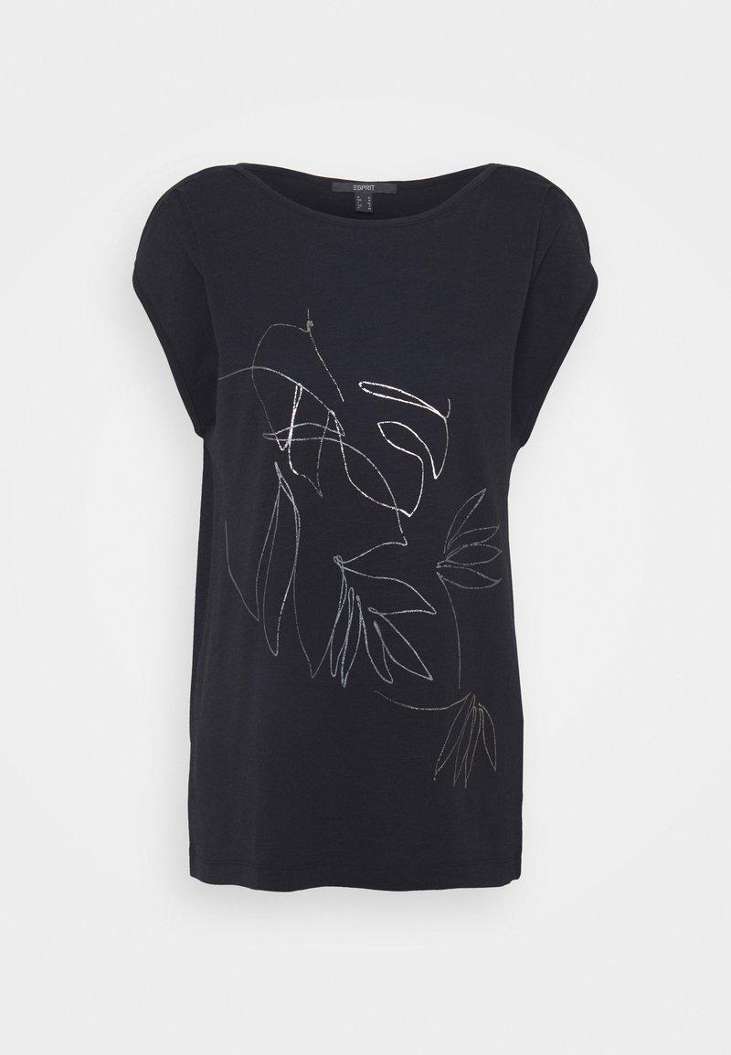 Esprit Collection - LINE - Print T-shirt - black