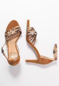 PERLATO - High heeled sandals - camel - 3