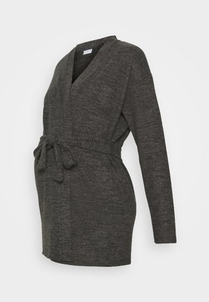PCMPAM CARDIGAN - Strickjacke - dark grey melange