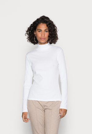 PERKIN NECK LONGSLEEVE  - T-shirt à manches longues - white