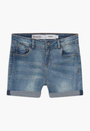 SHORTLE - Denim shorts - light-blue denim