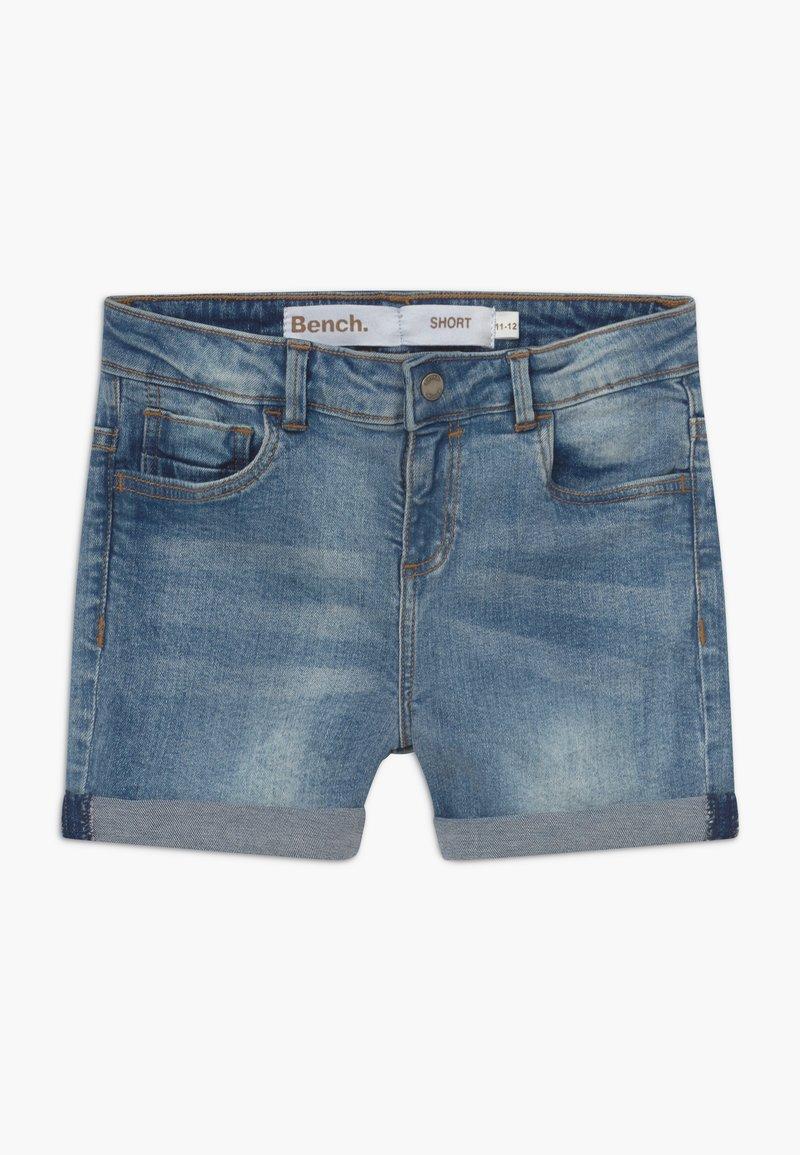 Bench - SHORTLE - Denim shorts - light-blue denim