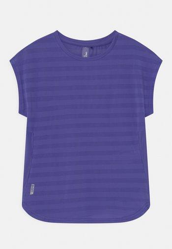 ONPANUR LOOSE SLIT TRAIN TEE  - Print T-shirt - blue iris