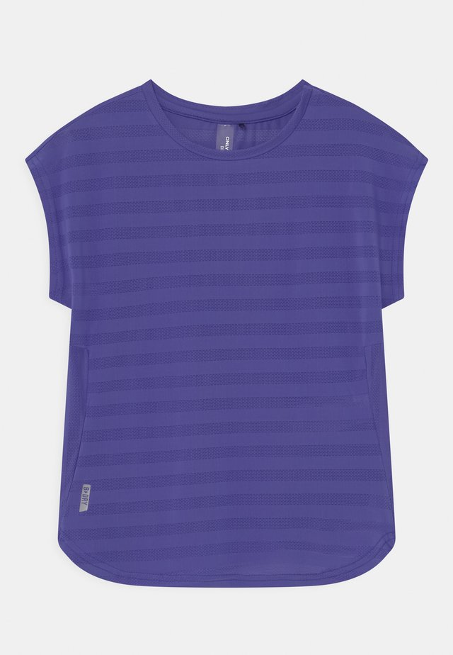 ONPANUR LOOSE SLIT TRAIN TEE  - T-Shirt print - blue iris
