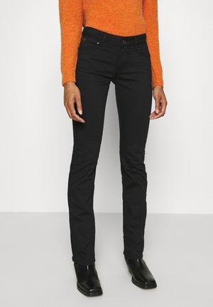 OLIVIA - Straight leg jeans - double black