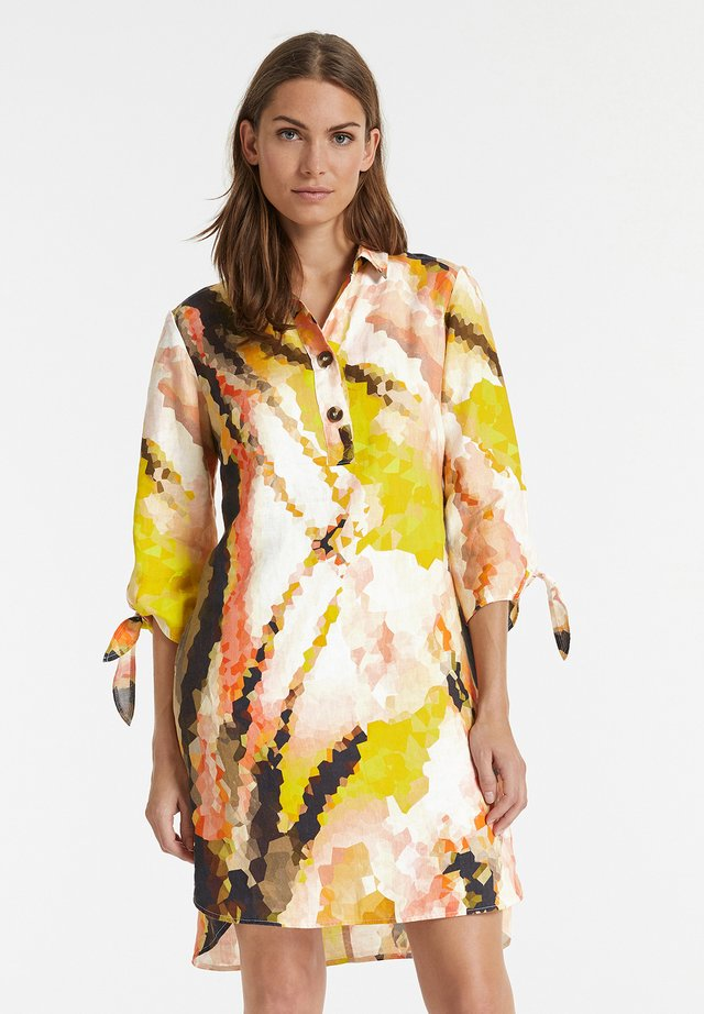 Shirt dress - papaya gemustert