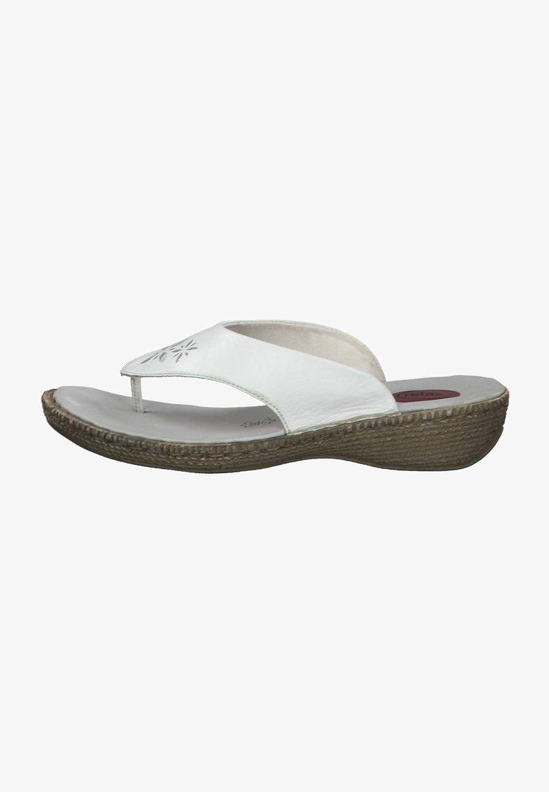 Jana - T-bar sandals - white