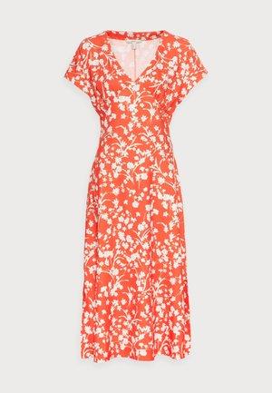 CRINKLE - Korte jurk - orange red