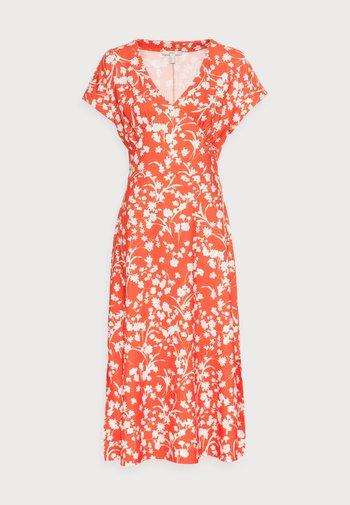 CRINKLE - Day dress - orange red