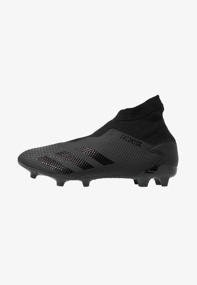 PREDATOR 20.3 LL FG - Moulded stud football boots - core black/dough solid grey