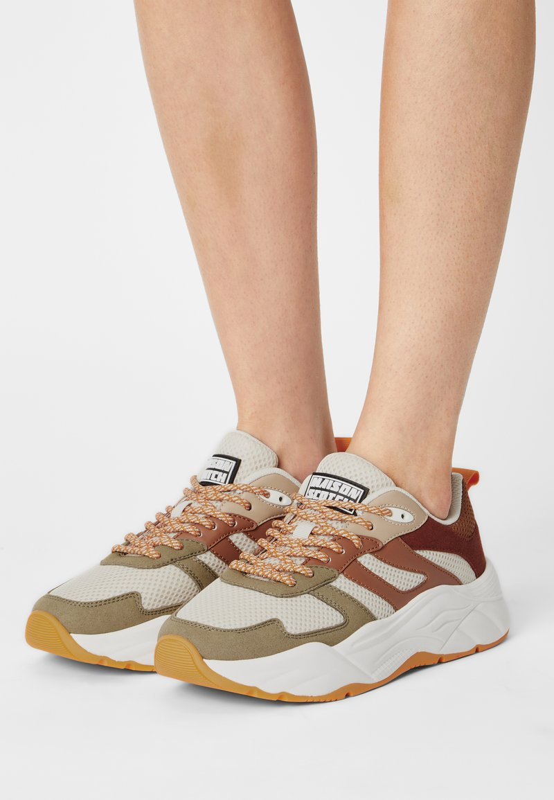 Scotch & Soda - CELEST - Sneakers laag - olive/brown/multi