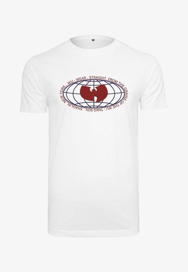 GLOBE LOGO  - T-shirt imprimé - white