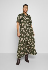 Kaffe Curve - KCILONE MAXI DRESS - Maxi dress - grape leaf - 0