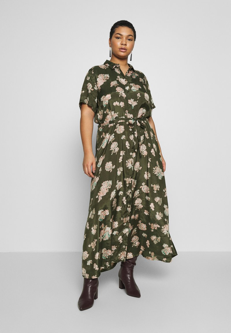Kaffe Curve - KCILONE MAXI DRESS - Maxi dress - grape leaf