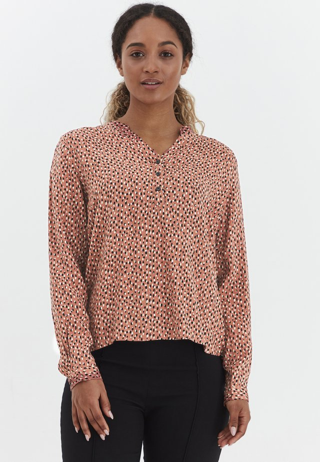 BYMMJOELLA VNECK - Blouse - etruscan red mix