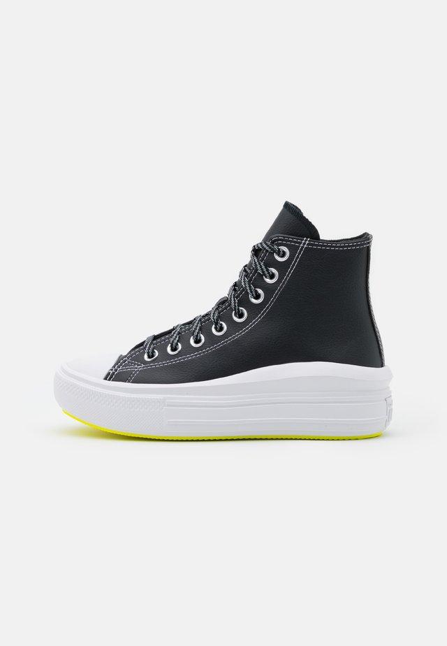 CHUCK TAYLOR MOVE PLATFORM - High-top trainers - black/lemon/white