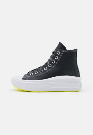 CHUCK TAYLOR MOVE PLATFORM - Sneaker high - black/lemon/white