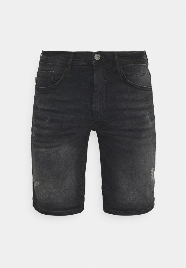SCRATCHES - Jeansshort - denim black