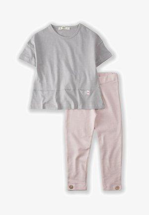 2 PIECE SET HIDDEN POCKET - Leggings - Trousers - grey