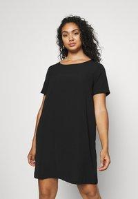 ONLY Carmakoma - CARLUXINA DRESS - Day dress - black - 0