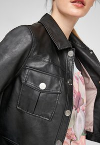 QS by s.Oliver - Faux leather jacket - black - 4