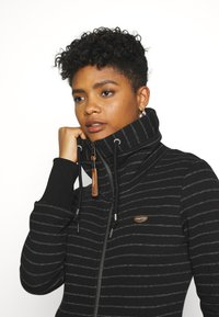 Ragwear - RYLIE STRIPE ZIP - Zip-up hoodie - black - 3