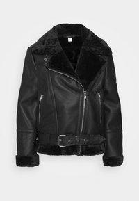Topshop Petite - CASSY - Faux leather jacket - black - 7