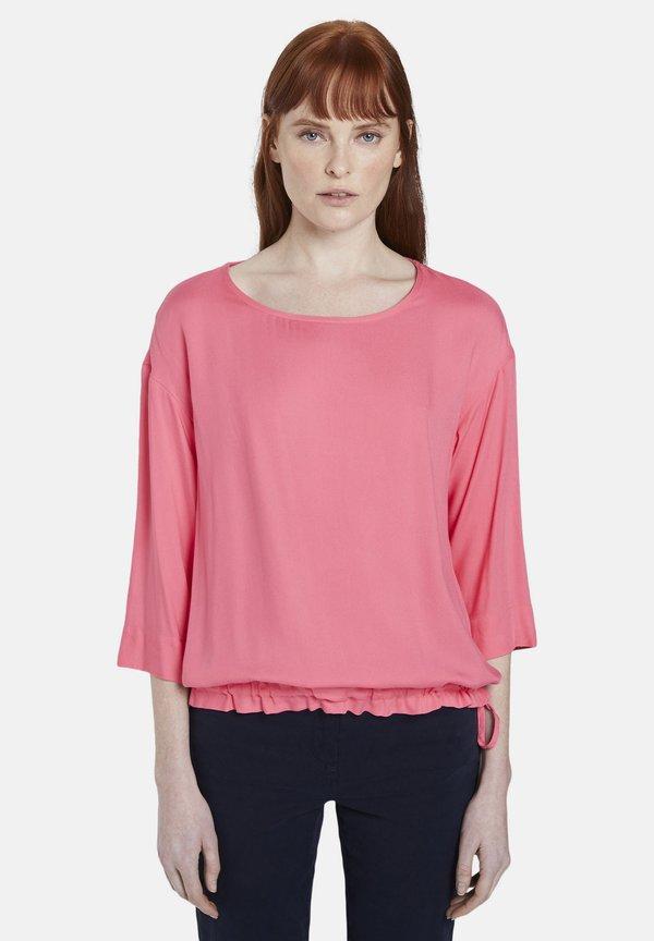 TOM TAILOR SOLID - Bluzka - charming pink/rÓżowy XBCJ