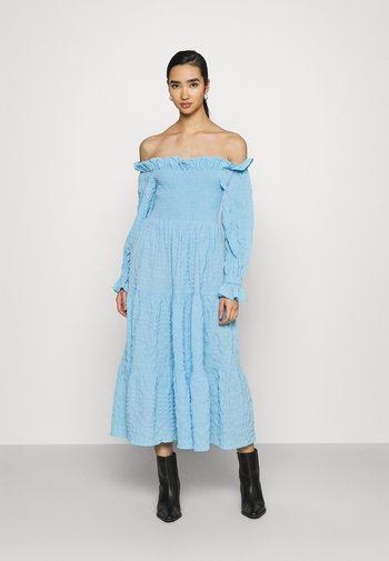 KAJSA DRESS - Korte jurk - blue