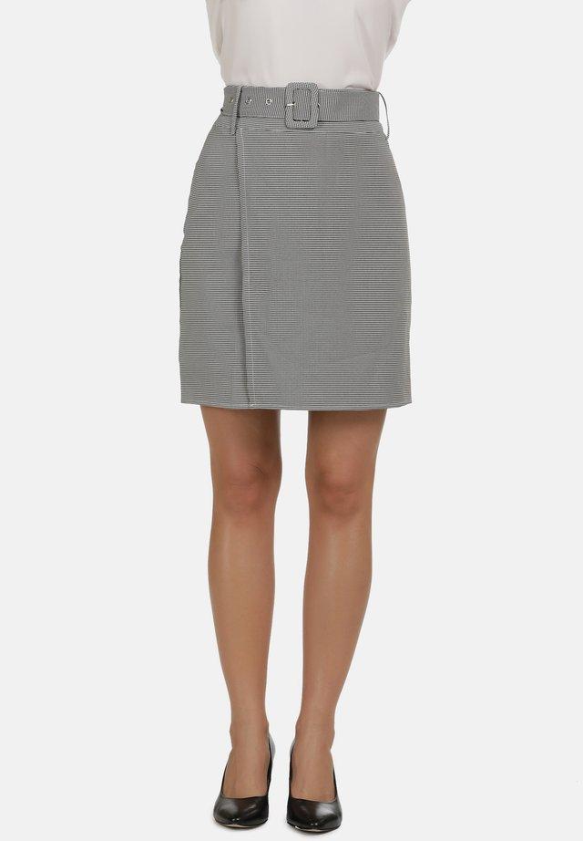 Pencil skirt - schwarz weiss