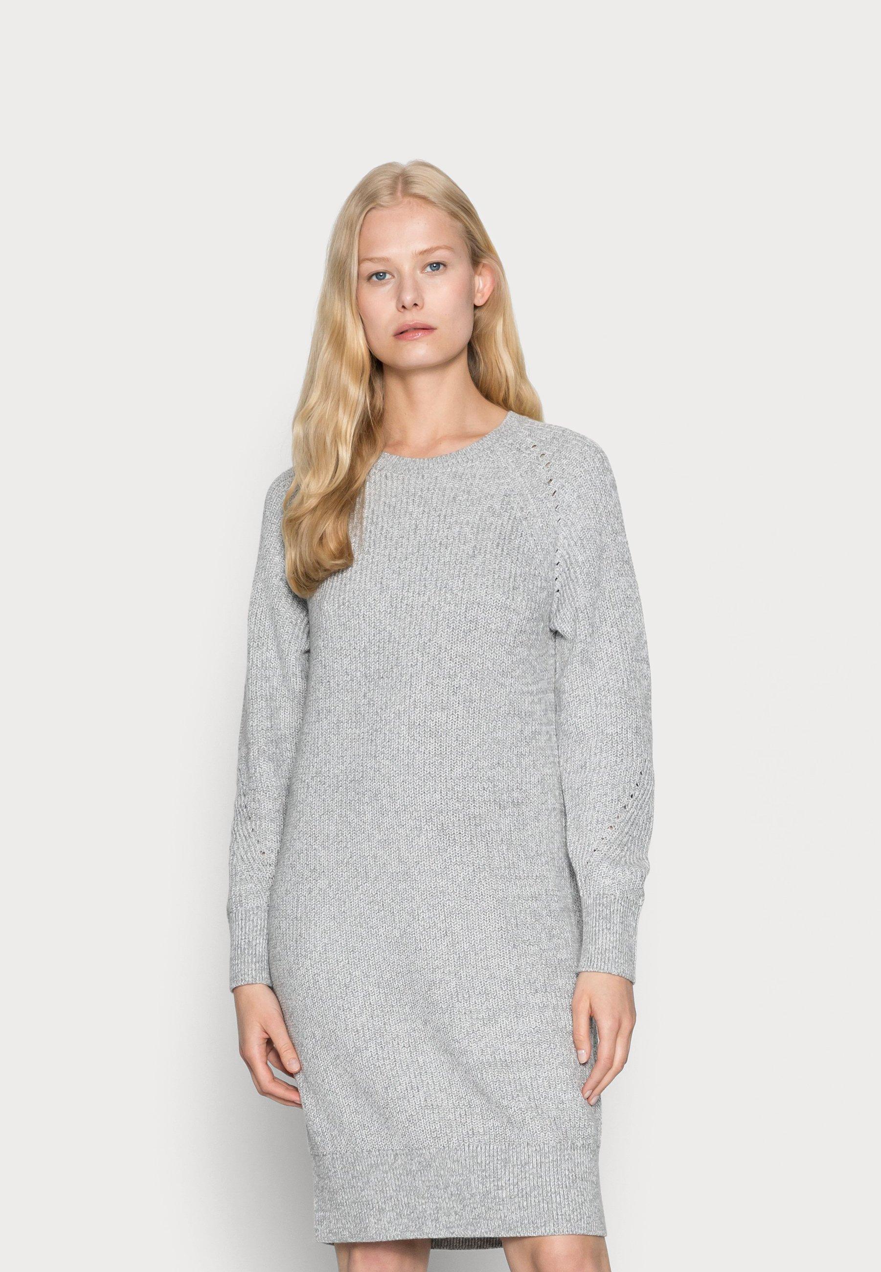 Donna DRESS - Abito in maglia - medium grey