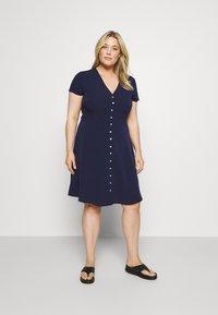 Anna Field Curvy - Shirt dress - dark blue - 0
