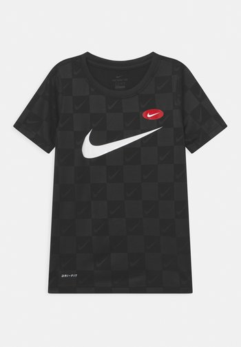 SOCCER UNISEX - Print T-shirt - black
