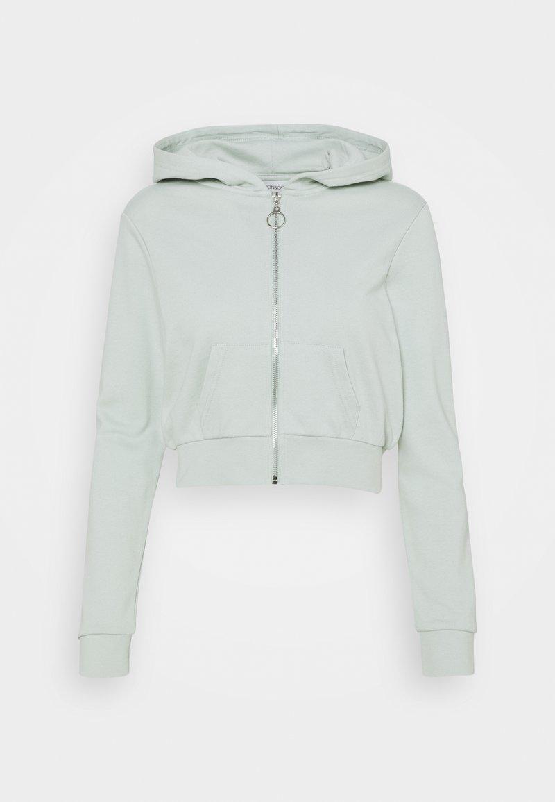 Even&Odd - Cropped Zip Up Sweat Jacket - Sweatjakke - green