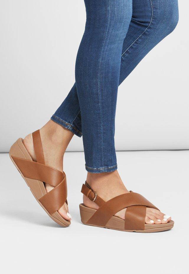 LULU - Platform sandals - light tan