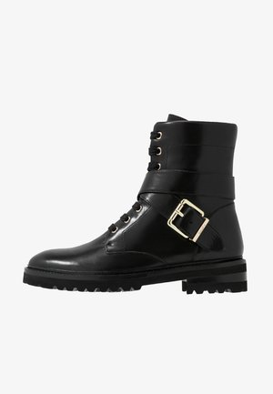 CHAIN ROAD - Bottines à lacets - black
