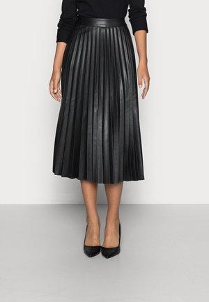 PLISSÉ SKIRT - Veckad kjol - deep black
