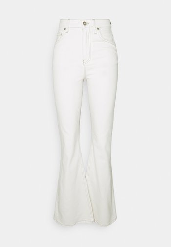 FLARE - Flared Jeans - white