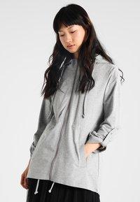 Urban Classics - LADIES TERRY  - Zip-up hoodie - grey - 0