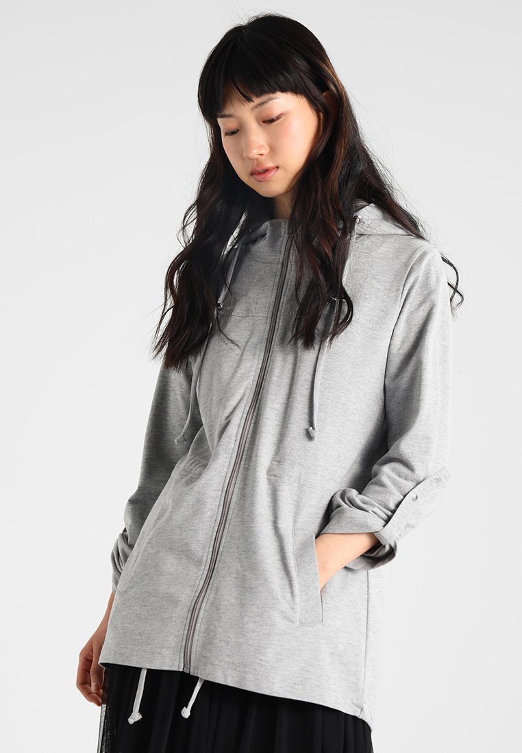 Urban Classics - LADIES TERRY  - Zip-up hoodie - grey