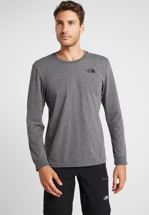 SIMPLE DOME - Top s dlouhým rukávem - medium grey heather