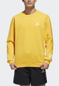 adidas Performance - ESSENTIALS TRAINING SPORTS PULLOVER - Mikina - active gold/white - 4