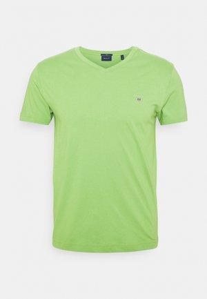 ORIGINAL SLIM V NECK - Jednoduché triko - foliage green