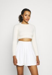 Sixth June - HAIRY CROP TOP - Jumper - off white - 0