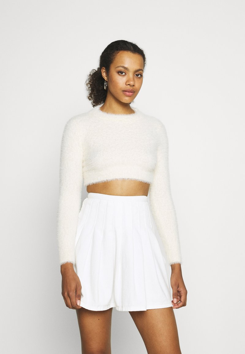 Sixth June - HAIRY CROP TOP - Jumper - off white