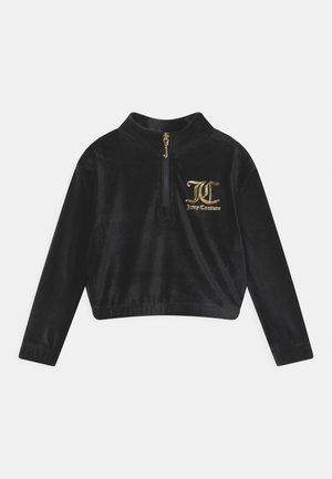 QUARTER ZIP - Sweater - jet black