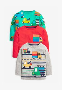 Next - 3 PACK APPLIQUÉ TRANSPORT - Long sleeved top - multi-coloured - 0