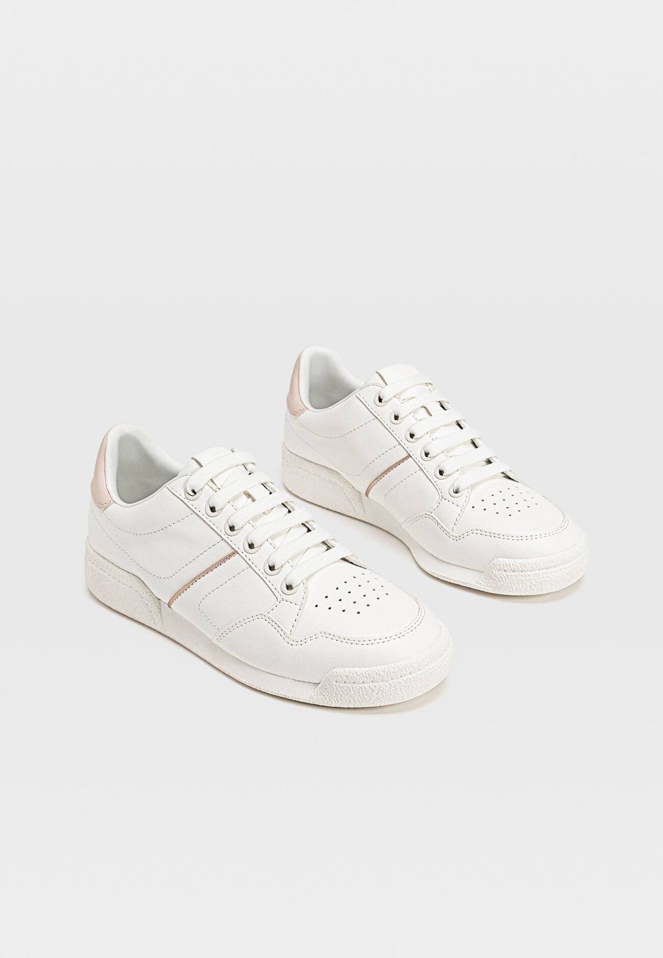 MIT FERSENDETAIL Sneakers white